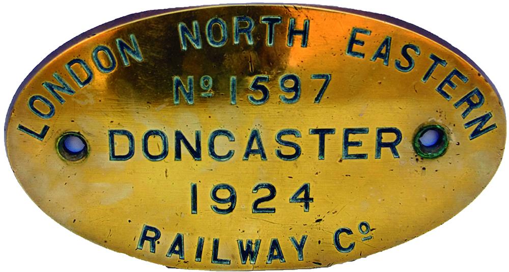 LNER Fully Titled, Engraved Oval Brass Worksplate