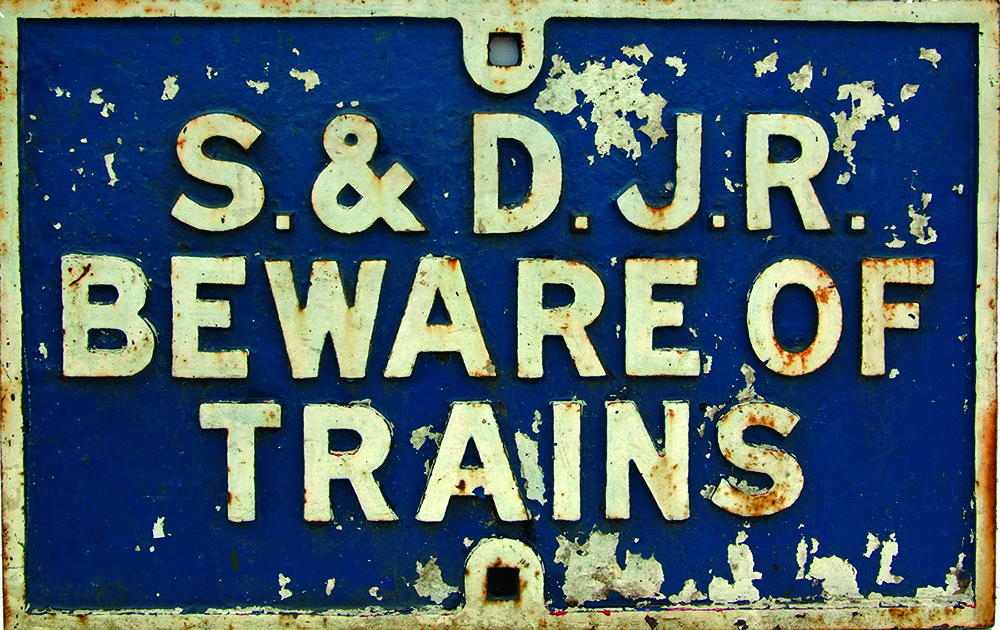 Somerset & Dorset Railway C/I Beware Of Trains.