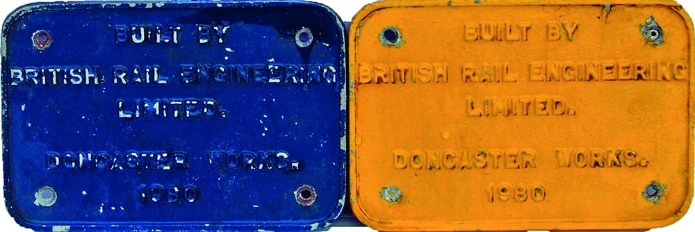 Worksplates, A Pair 'Built By British Rail