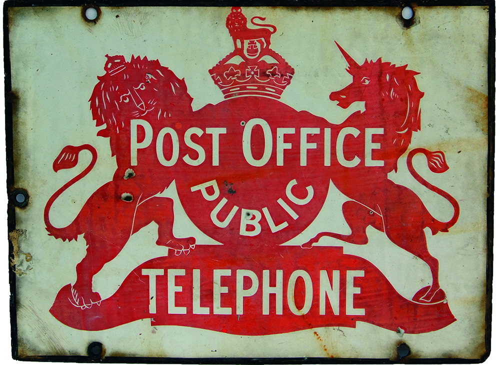 Enamel Advertising Sign 'Post Office Public