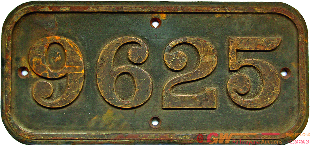 Cabside Numberplate 9625, Cast Iron Construction.