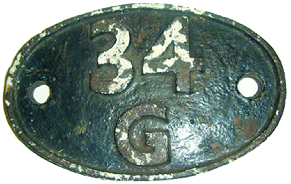 Shedplate  34g Finsbury Park Until May 1973. Ex