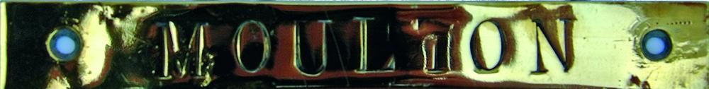 Brass Signalbox Shelf Plate 'MOULTON'. Ex M&GN