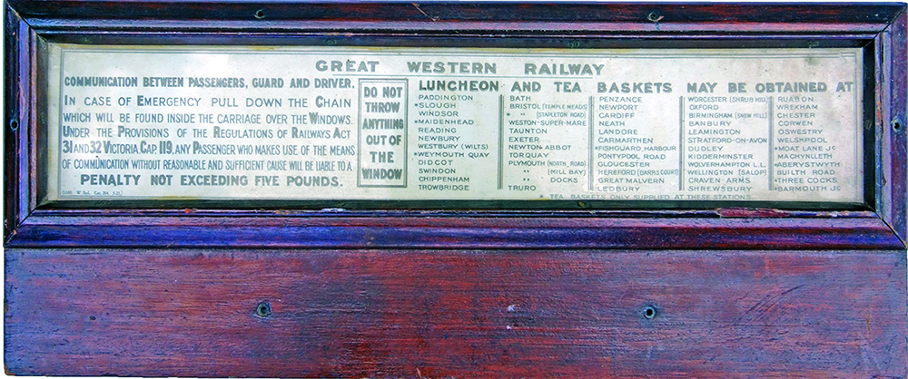 GWR Wooden Carriage Ventilator Panel With The
