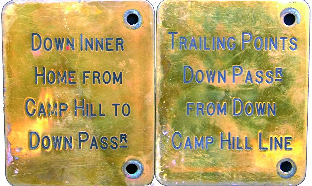 Midland Railway Brass Signalbox Lever Plates, Ex