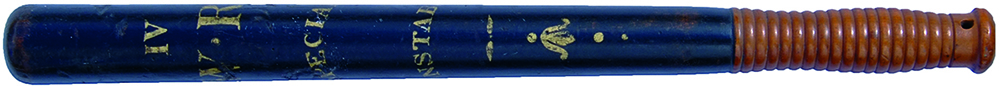William IV Truncheon Inscribed In Gilt On A Black