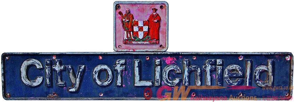 Nameplate CITY OF LICHFIELD. Ex BR/EE 25kv Bo-Bo