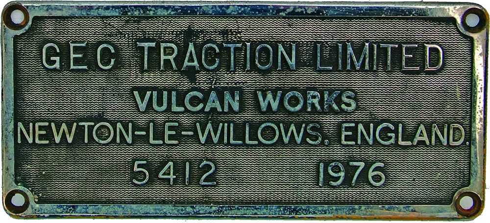 Worksplate GEC Traction Limited, Vulcan Works,