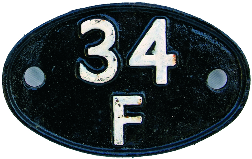 Shedplate 34f, Grantham From July 1958 Until