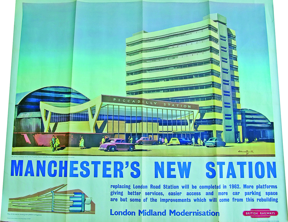 Poster 'Manchester New Station Piccadilly 1962' By