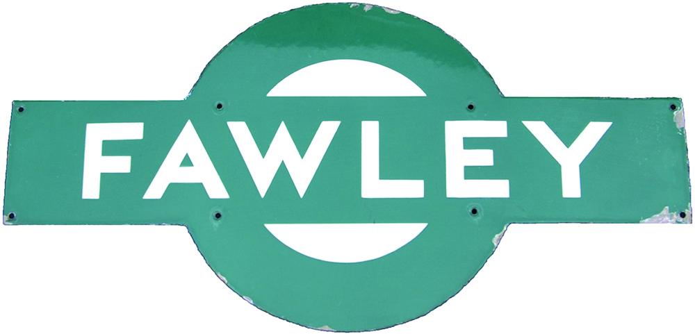 Southern Railway Enamel Target, FAWLEY. Ex LSWR