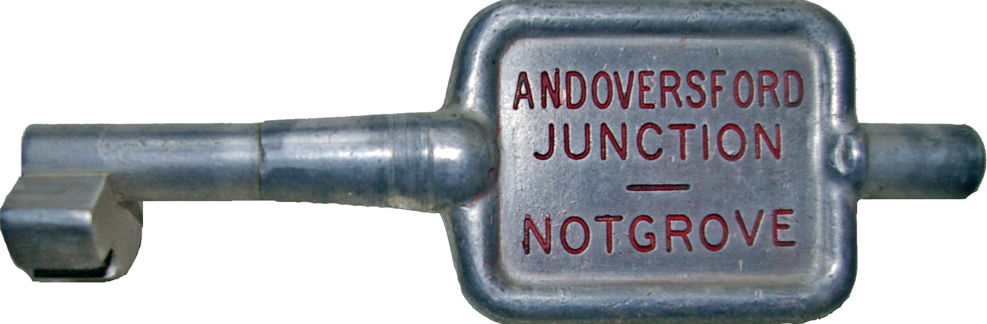Alloy Key Token ANDOVERSFORD JUNCTION - NOTGROVE.