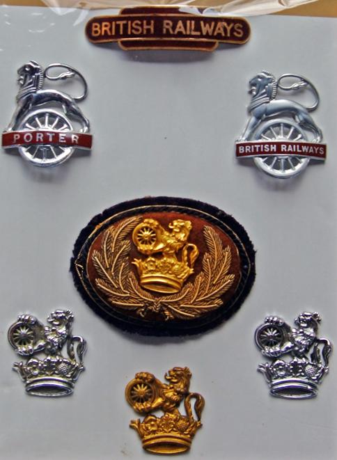 Cap Badges, Qty 7 Comprising British Railways(W)