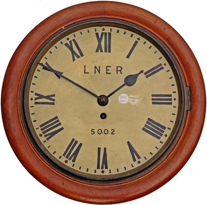 North Eastern Railway 12 Oak Cased Fusee Dial