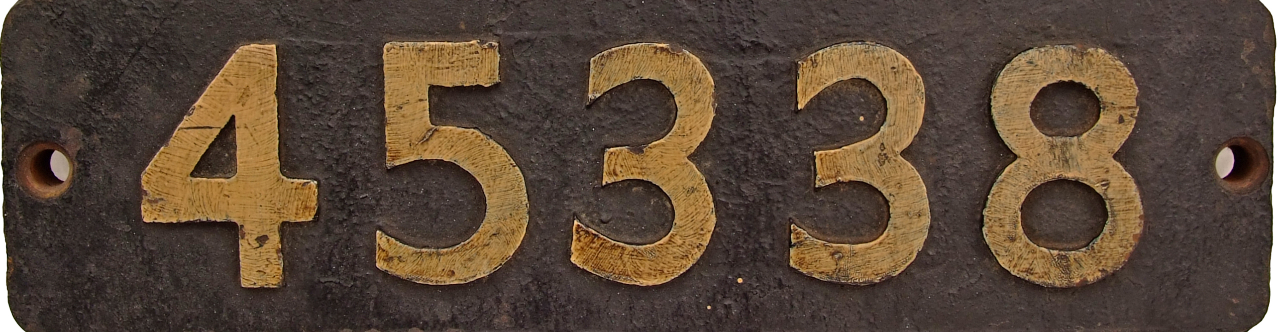 Smokebox Numberplate 45338. Ex Stanier Class 5