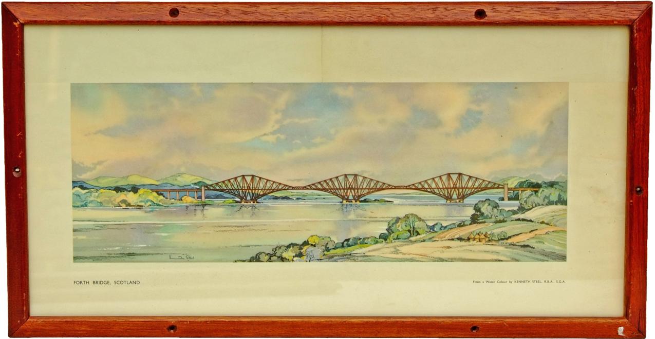Carriage Print, 'Forth Bridge Scotland' By Steele