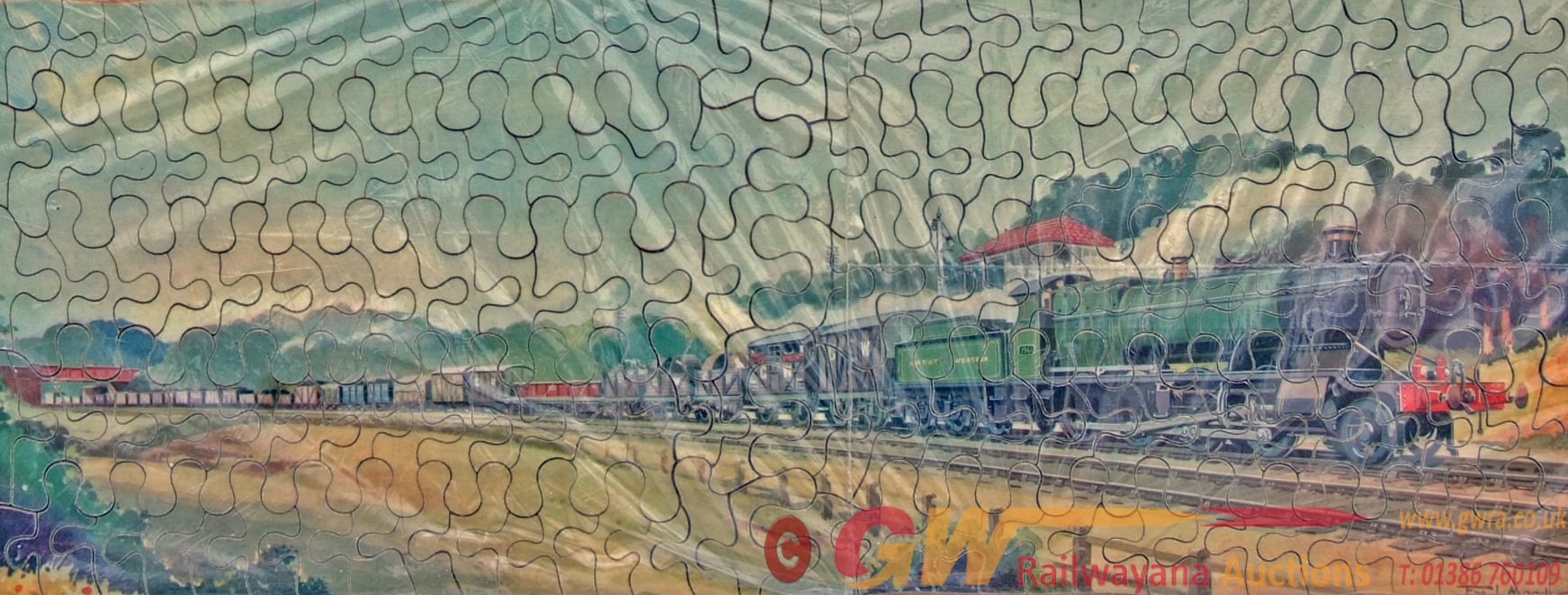 GWR Jigsaw 'The Freight Train' Complete With A