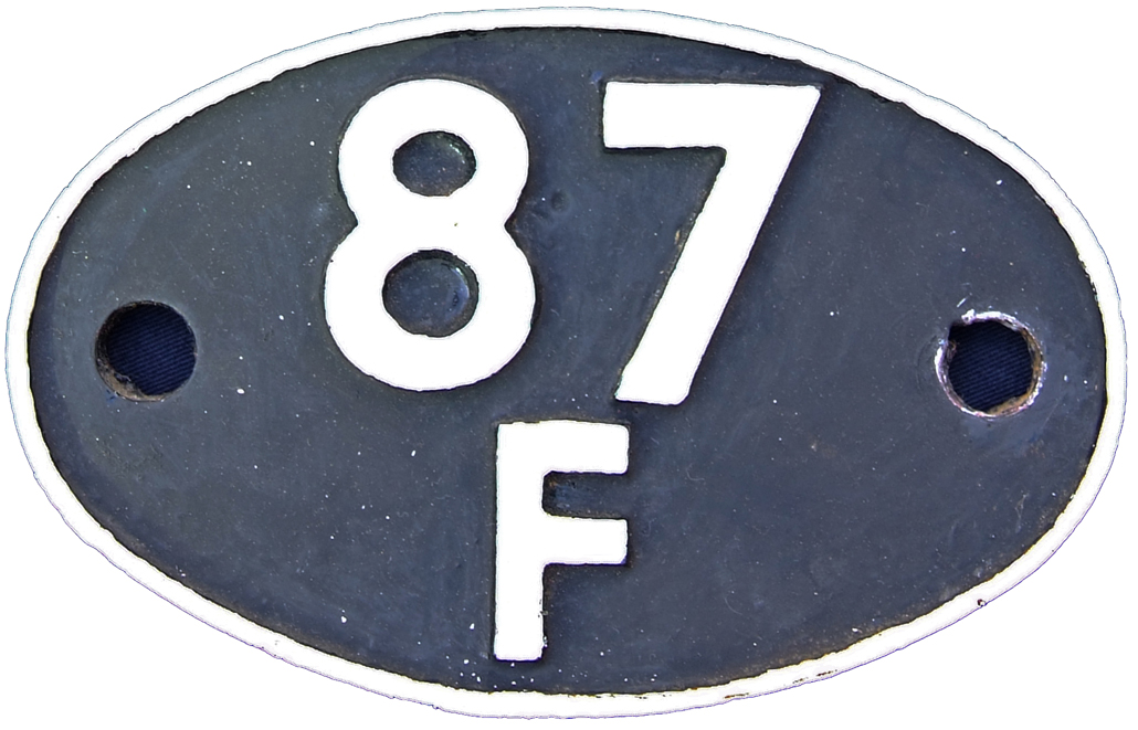 Shedplate 87f, Llanelly Until July 1964.