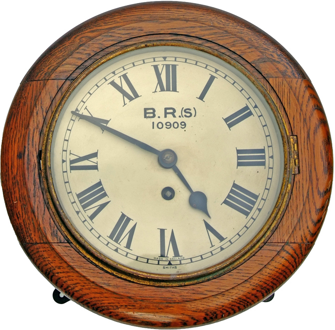 BR(S) 8 Oak Cased Fusee Clock Numbered 10909. Ex