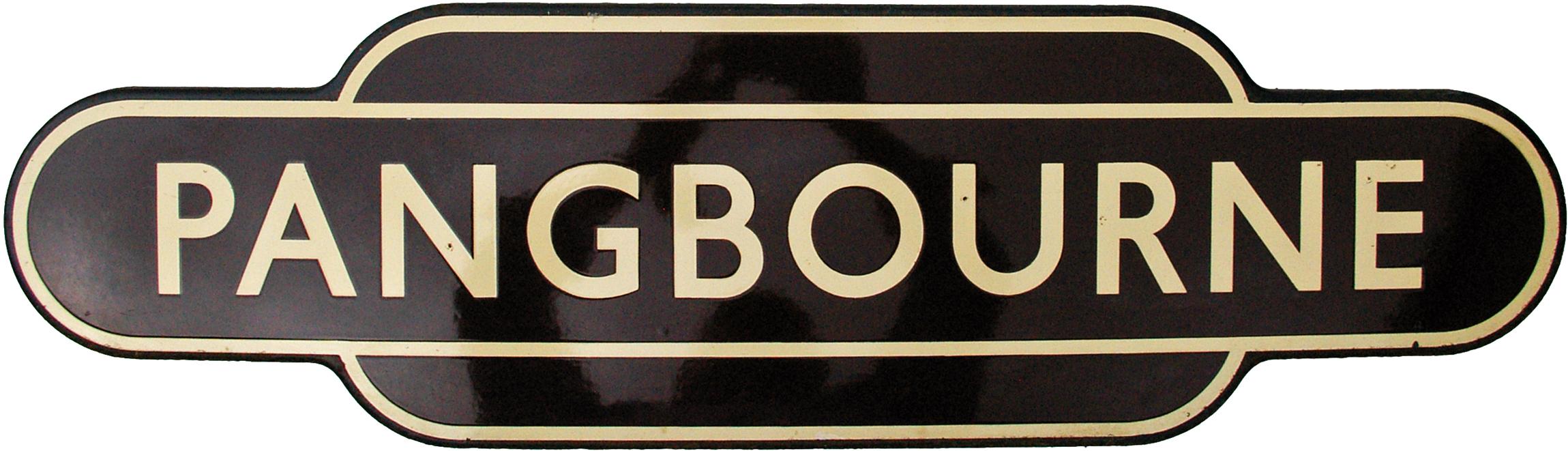 Totem, BR(W) PANGBOURNE, F/F. Ex GWR Station