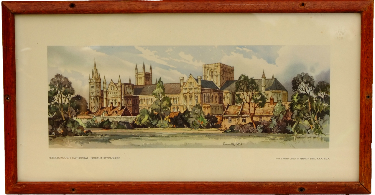 Carriage Print, 'Peterborough Cathedral,
