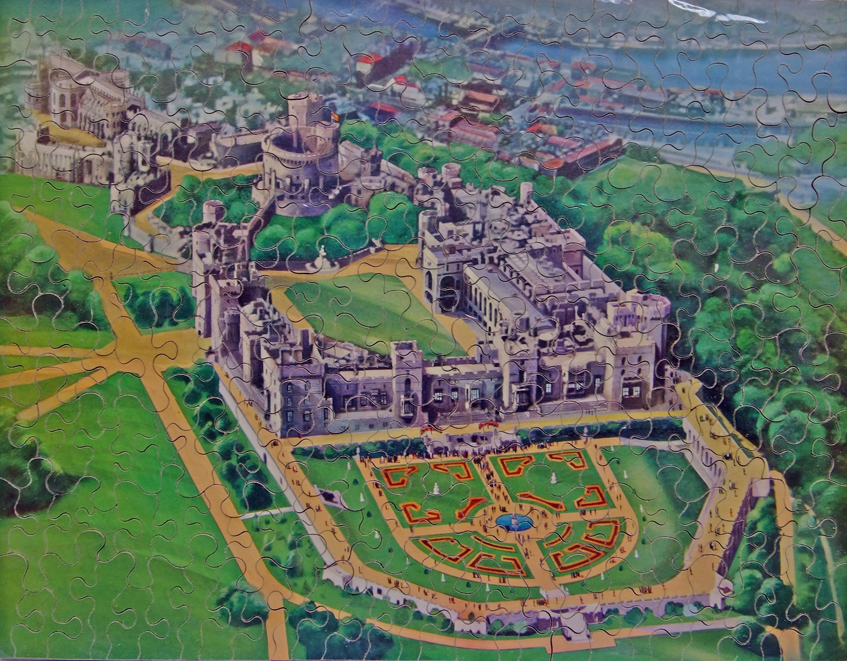 GWR Chad Valley Wooden Jigsaw, 'Windsor Castle