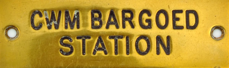 GWR Brass Signal Box Shelfplate CWM BARGOED