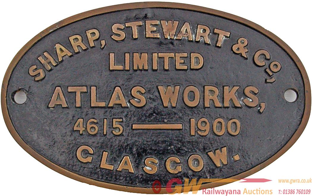 Worksplate Sharp, Stewart & Co. Limited Atlas