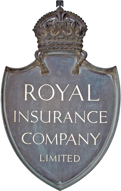 Royal Insurance Company Limited Bronze Shield Set