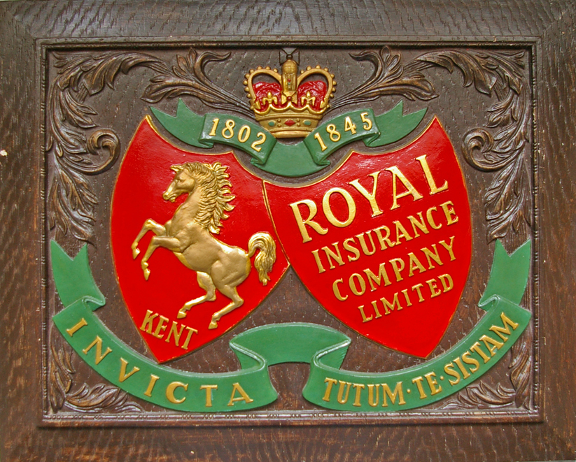 Royal Insurance Company Limited Wood Effect Sign