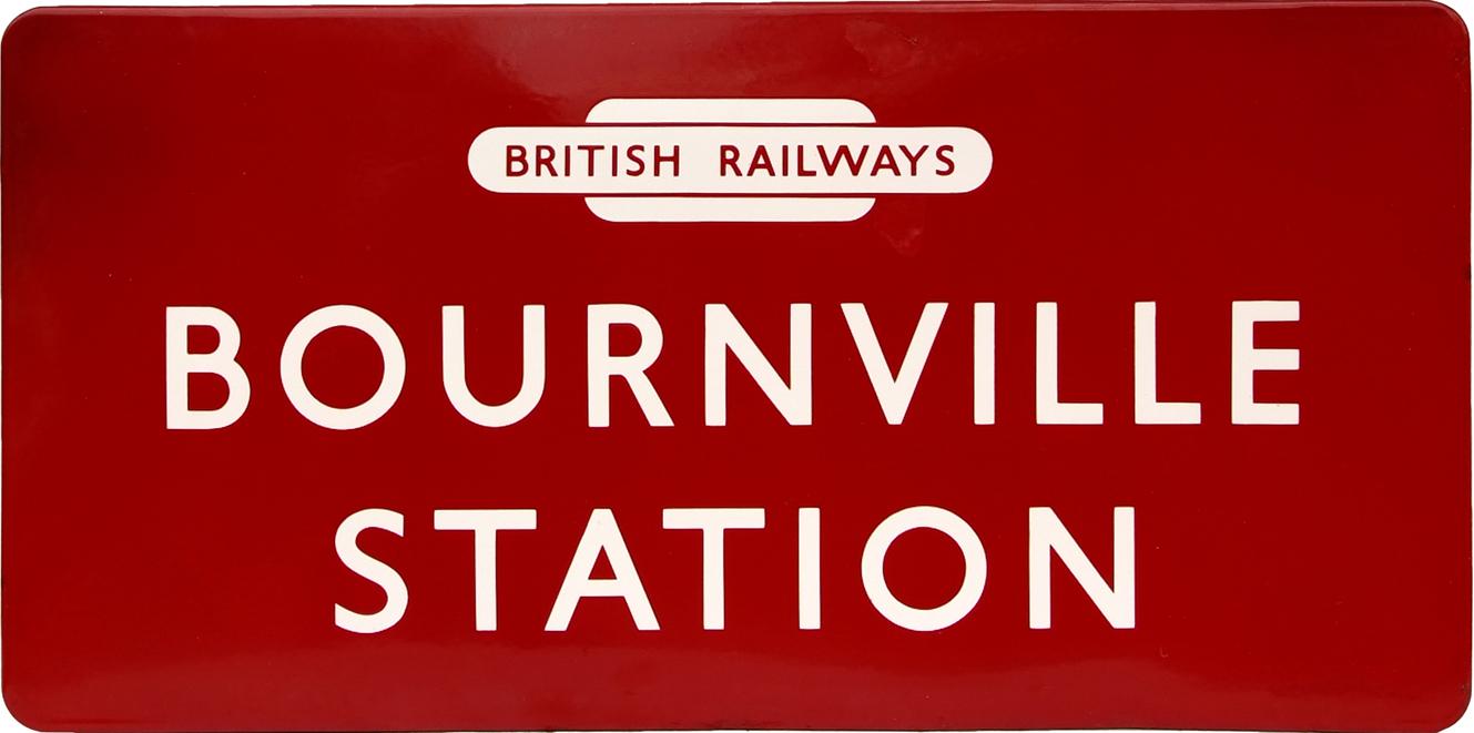 British Railways(M) Enamel Station Sign BOURNVILLE