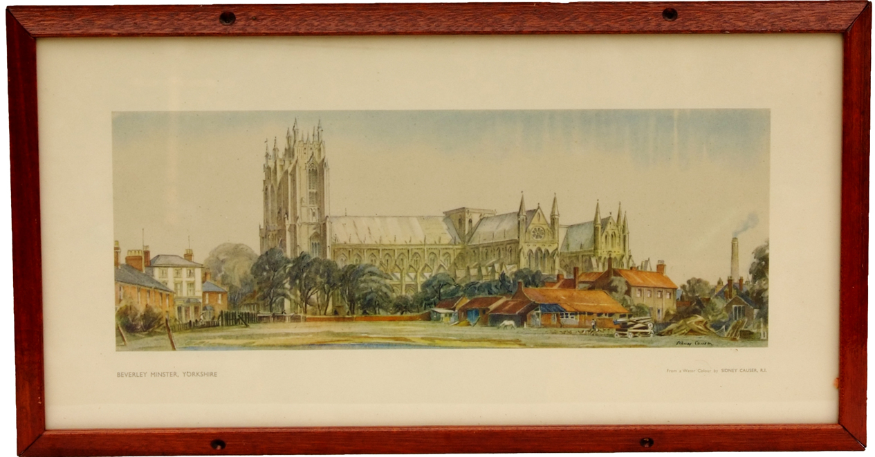 Carriage Print BEVERLEY MINSTER, YORKSHIRE By