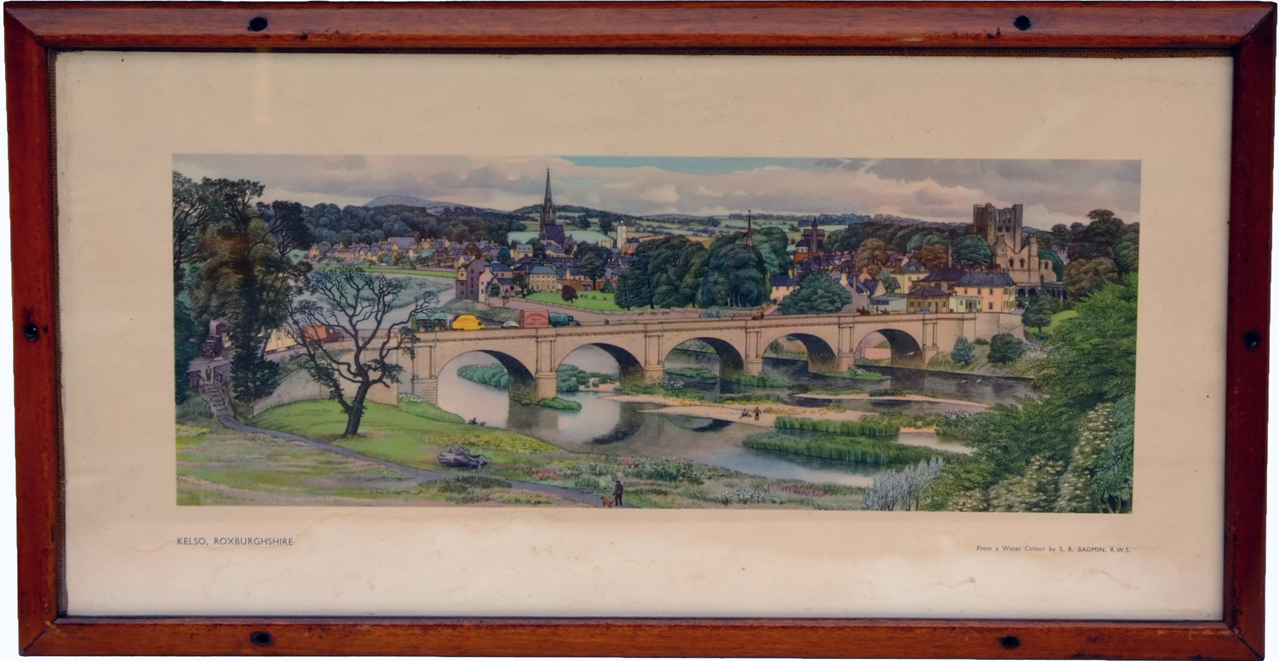Carriage Print, 'KELSO, ROXBURGHSHIRE' By Badmin