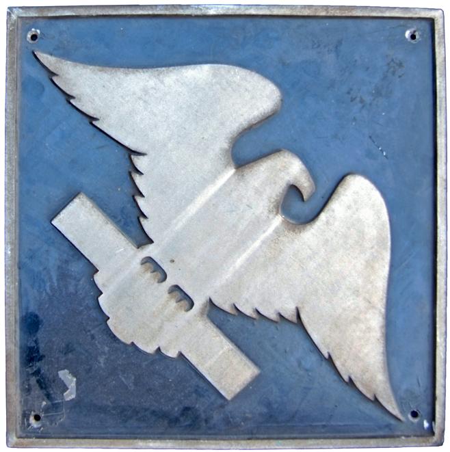 Diesel Depot Plaque Depicting The Crewe Eagle.