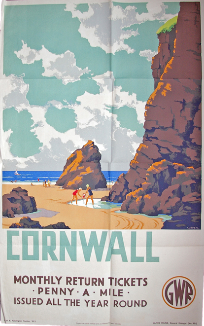 GWR Poster, D/R ' Cornwall - Monthly Return