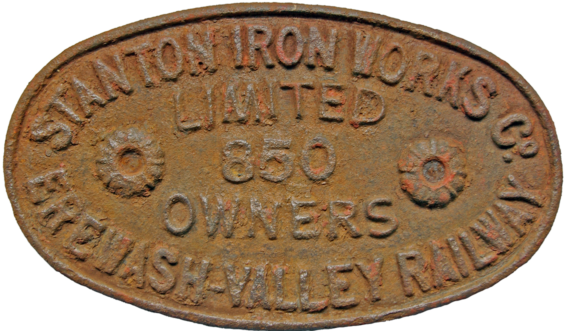 Wagon Plate, Stanton Iron Works Co. Limited No