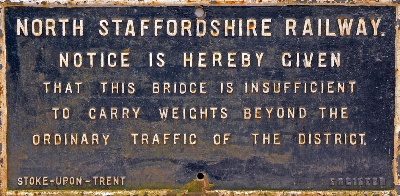 North Staffordshire Railway C/I Bridge Restriction