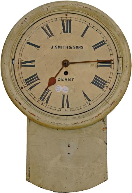 Midland Railway 12 Oak Cased Fusee Drop Dial Clock