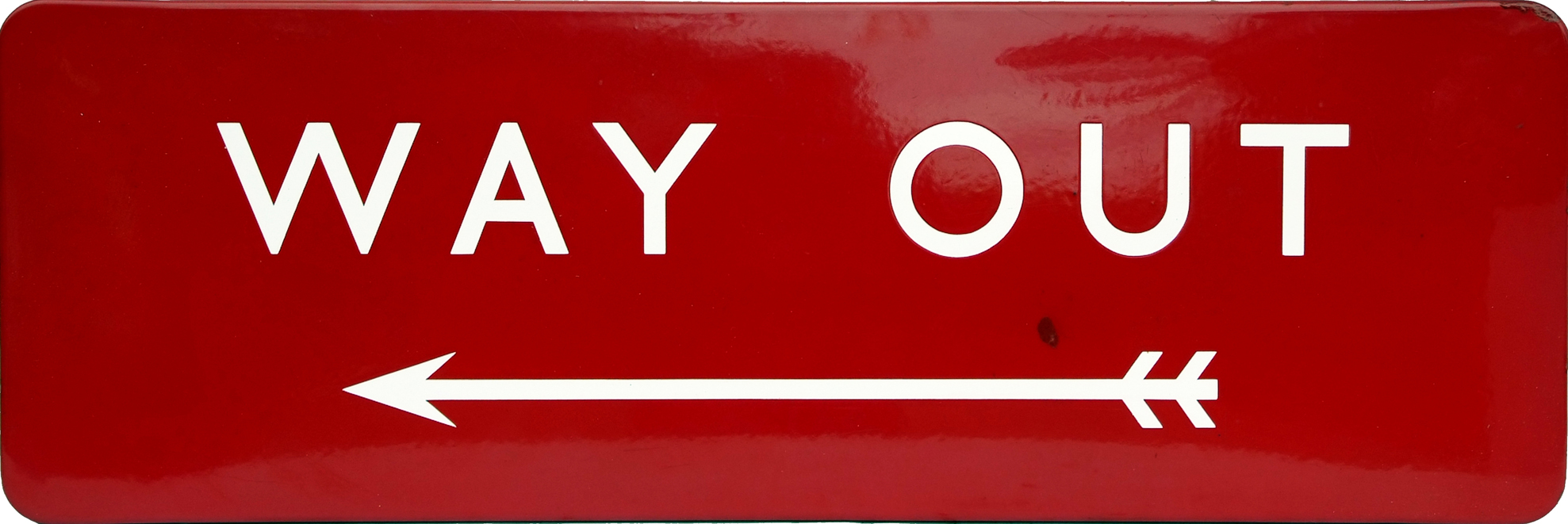 British Railways(M) Enamel Platform Sign 'WAY OUT'