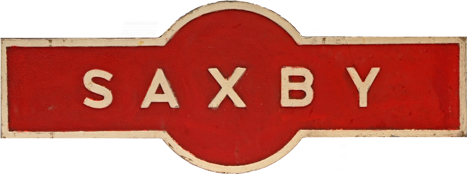 LMS Station Hawkeseye Sign SAXBY. Leicestershire
