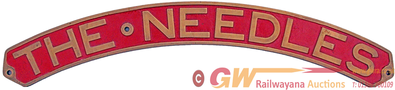 Locomotive Nameplate THE NEEDLES. Ex London