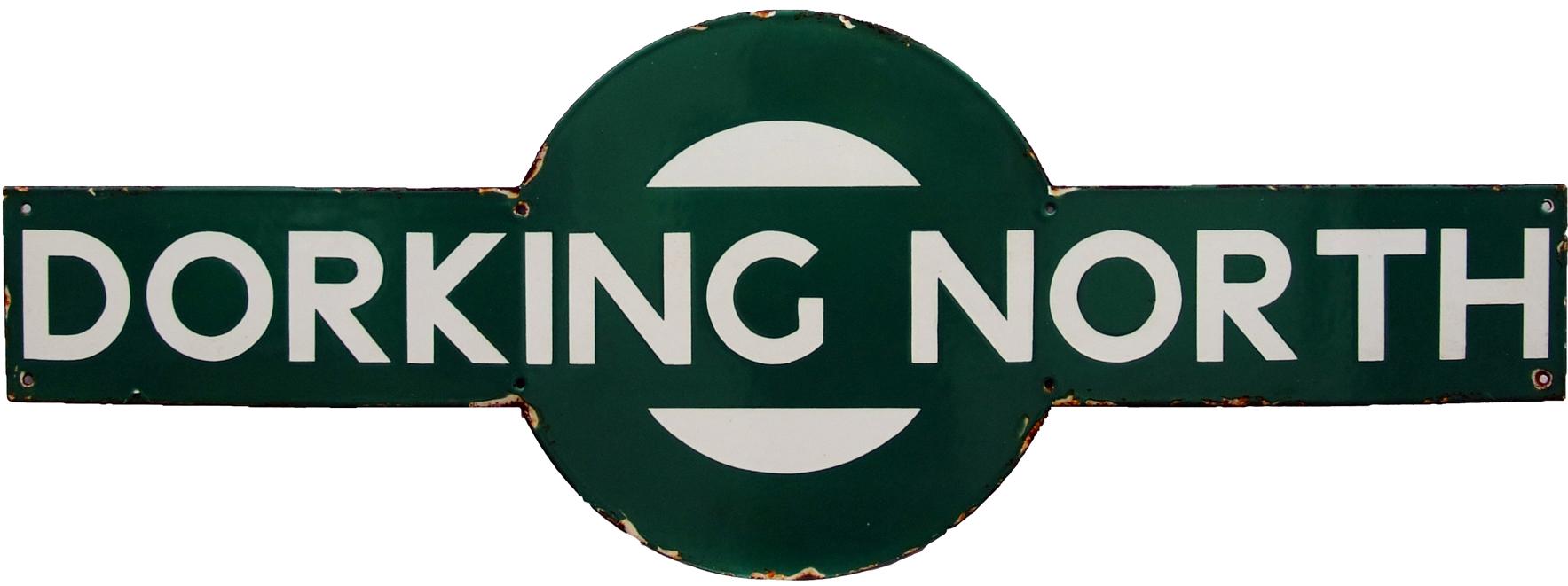 Southern Railway Target DORKING NORTH. Ex LBSCR