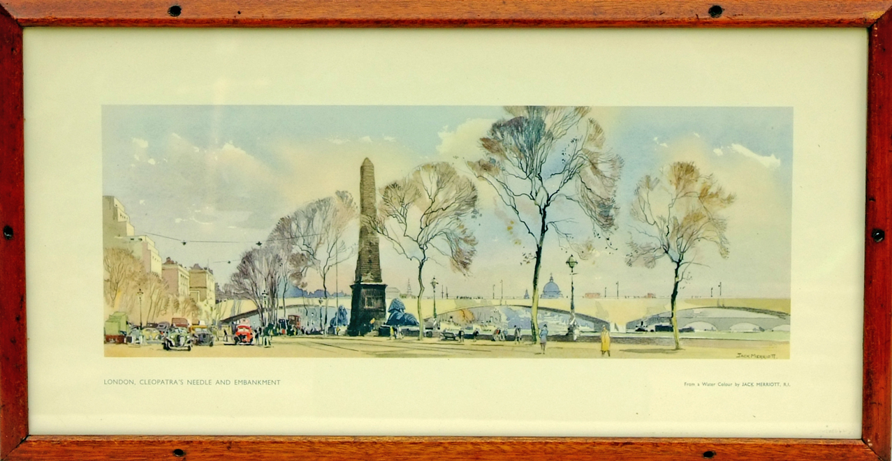 Carriage Print, 'London Cleopatras Needle And