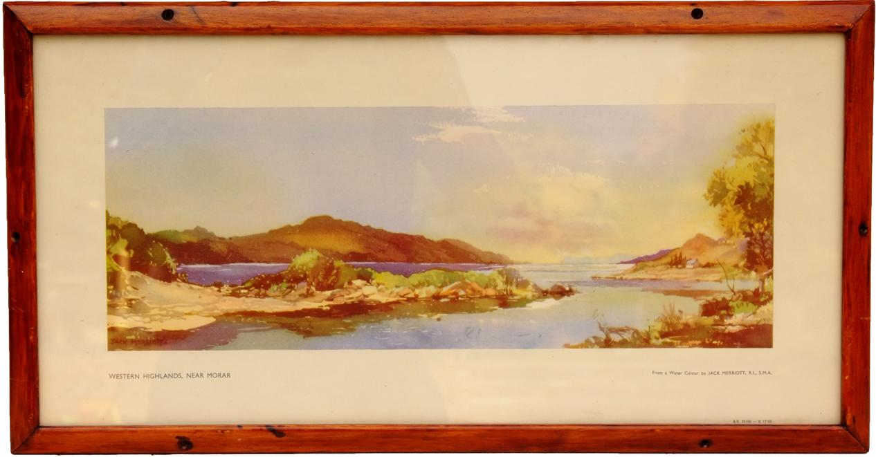 Carriage Print, 'Western Highlands Near Morar' By
