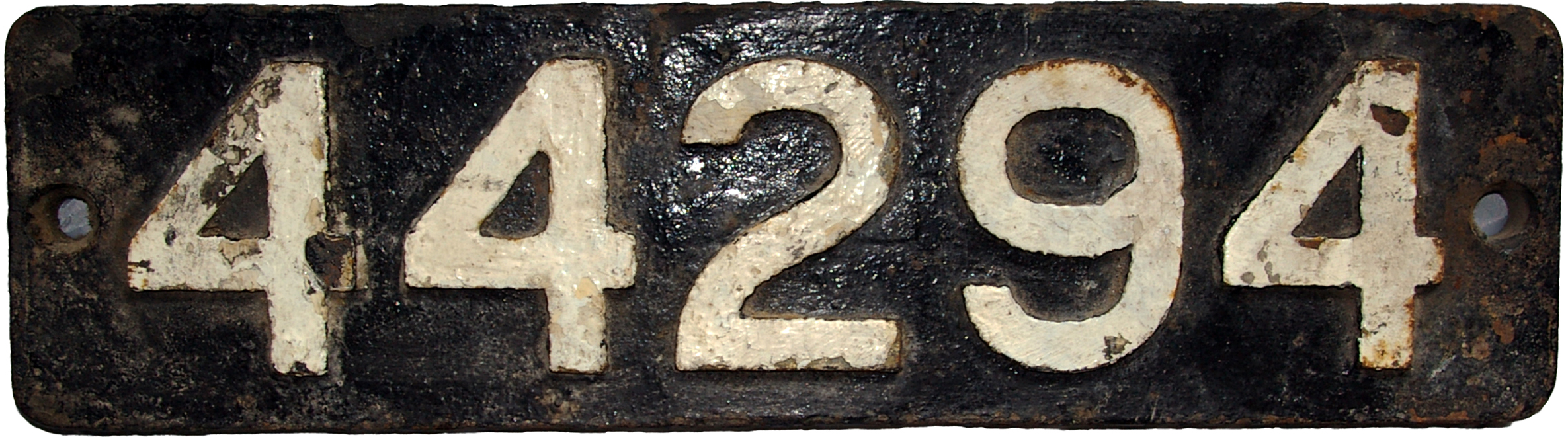 Smokebox Numberplate 44294. Ex LMS Class 4f Built