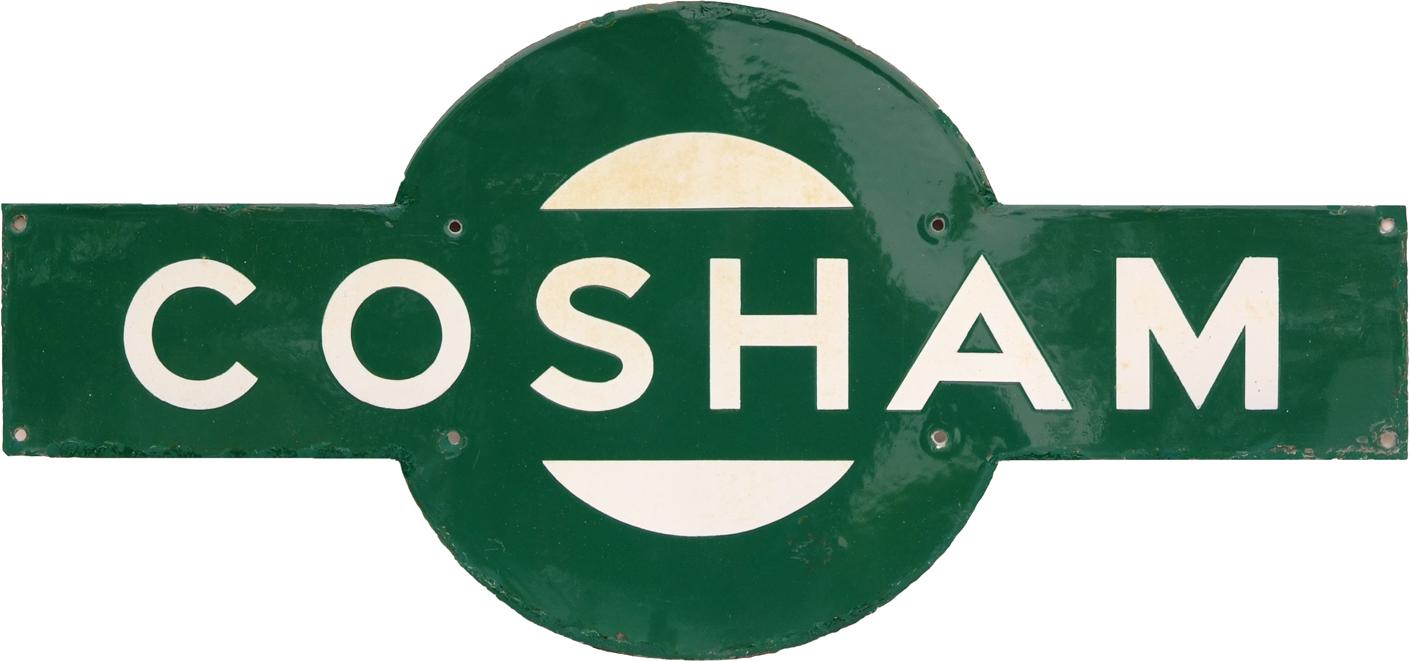 Southern Railway Target COSHAM. Ex LSWR Station