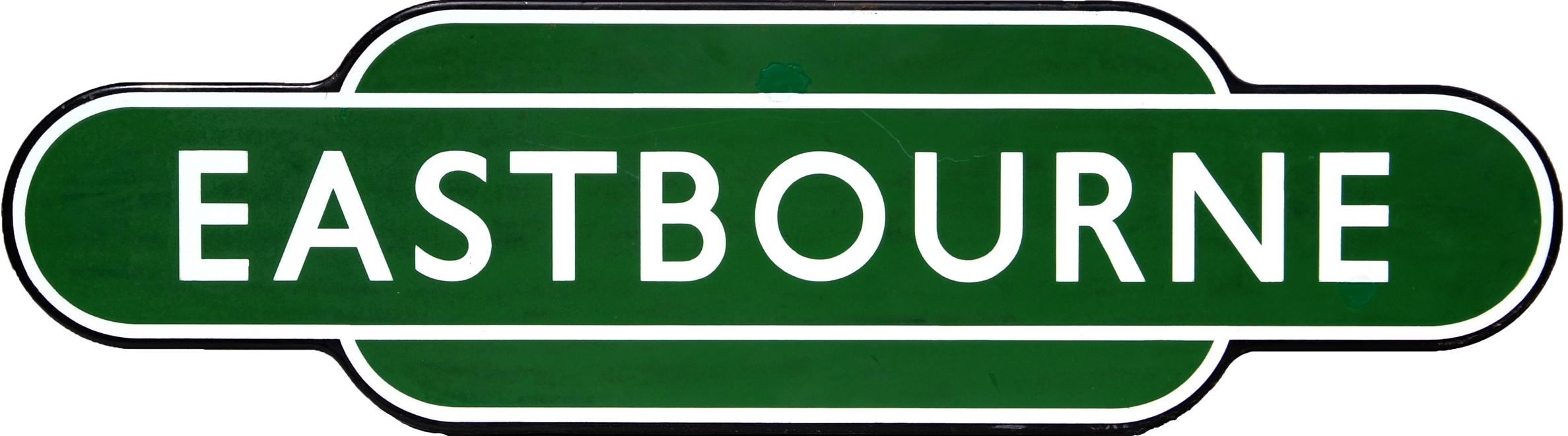 Totem BR(S) EASTBOURNE, F/F. Ex LBSCR Station