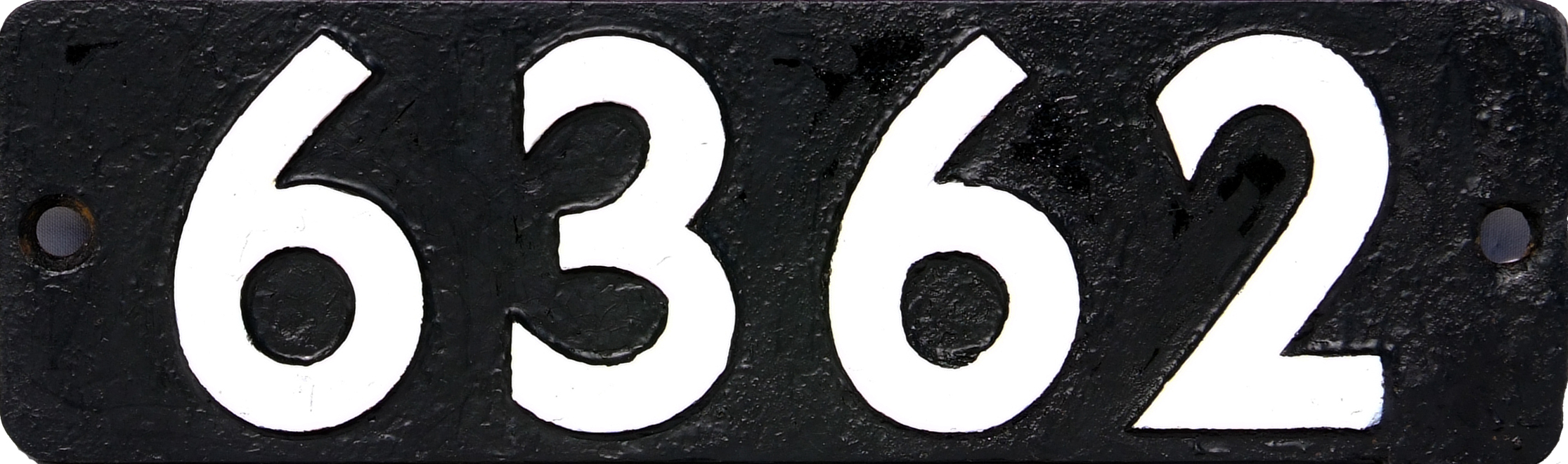 Smokebox Numberplate 6362, Cast Iron Construction.
