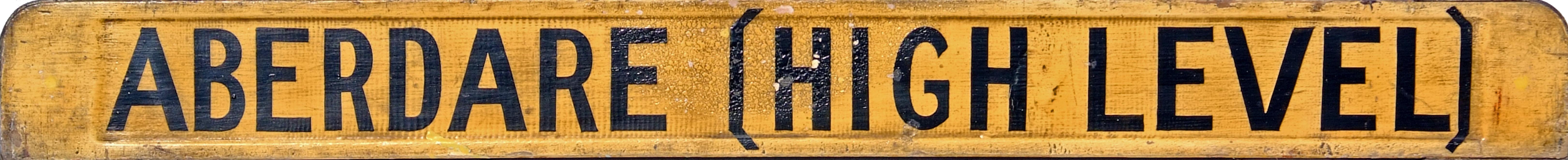 Carriage Board ABERDARE ([HIGH LEVEL] - SWANSEA