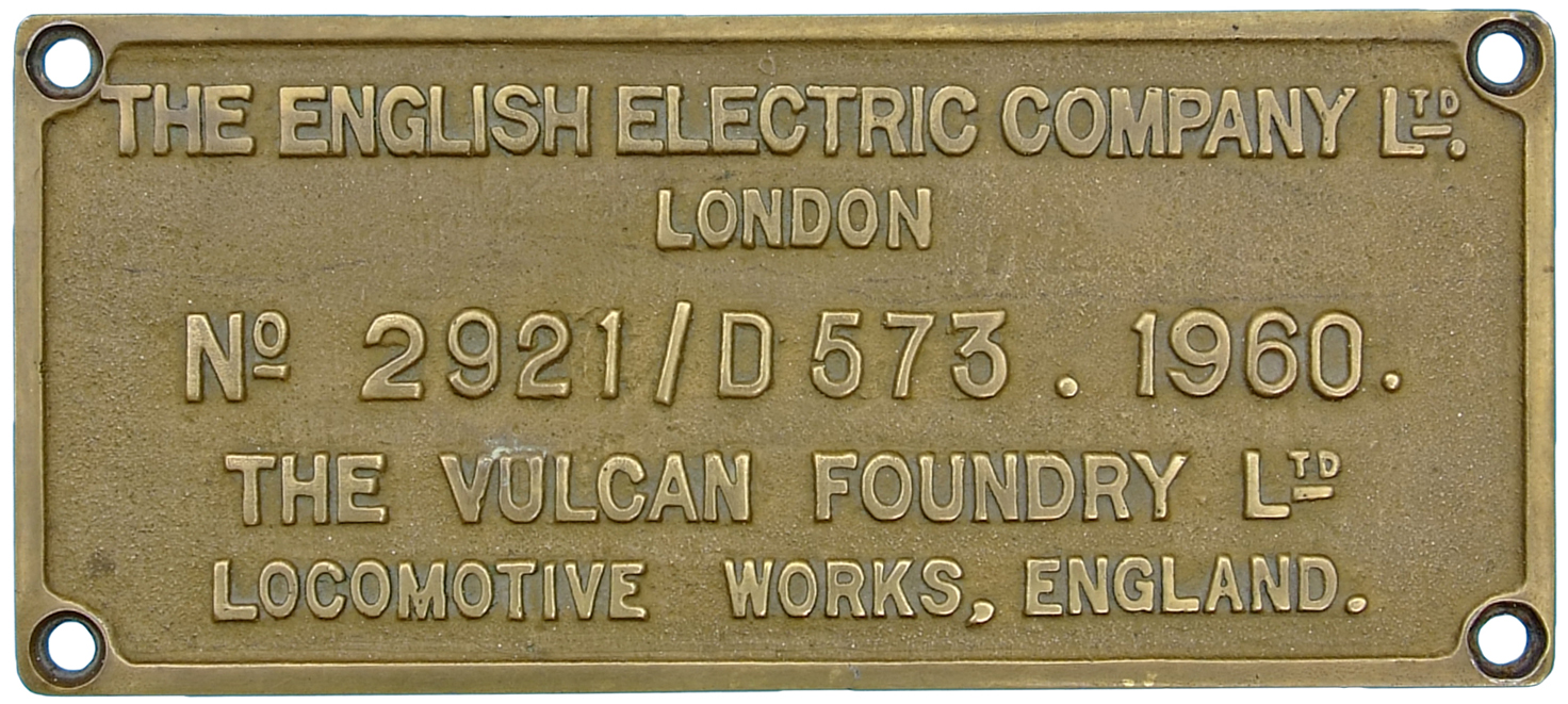 Deltic Worksplate, The English Electric Company